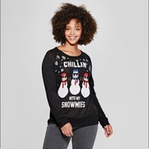 """Target """"Chillin With My Snowmies"""" Sweater SZ L"""